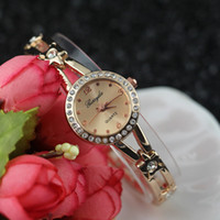 battery circle - tiny star with crystal metal band gold plating round case with crystal circle gerryda fashion woman lady quartz bracelet watch