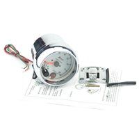 Wholesale 3 inch WHITE face LED light color tachometer gauge RPM car auto meter EL gauge