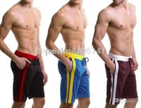 Wholesale home Pocket pyjama men s casual trousers GYM Run sports YOGA wear Male beach boardshorts Middle half pant