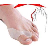 Wholesale 4pcs Soft Bunion Protector Toe Straightener Toe seperating Toe Gel Separators Eases Foot Pain