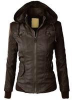 Wholesale Women s PU Faux Soft Bomber Leather Jacket Slim Cotton Fleece Flocking Turtleneck Zipper Normal Length Quilted Coats