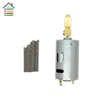 Wholesale New Mini Micro Small V Electric PCB Motor Drill Press Drilling with mm mm Twisit Drill Bits and Brace jaws Shasft order lt no