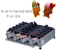Wholesale Gas type Ice Cream Fish Waffle Maker Taiyaki Machine