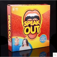Wholesale HOT Speak Out Game Ridiculous Mouthpiece Party Game Challenge Game Speak Out Board Game Jokes Funny Toys Christmas Gift IN STOCK