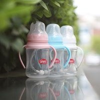 Wholesale Po genuine baby baby wide mouth SD port with handle automatic bottle does not contain bisphenol A PP material