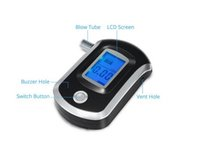alcohol detector sensor - AT6000 Car detector Semi conductor Sensor and LCD Display Digital Breath Alcohol Tester with Mouthpieces