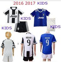 Wholesale DHL Mixed buy Uniforms Kit Youth Kids Juventus Soccer Jersey MARCHISIO MORAT DYBALA Higuain RD Third Away White Jerse