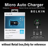 belkin mini - 1000pcs Belkin Brand Without Logo Top quality Mini Universal USB Car Charger For all IPhone s s samsung galaxy S4 S3 all mobile phone