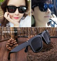Wholesale Cheap sell sunglasses female star models tidal wave of men drivers mirror new retro big round eyes frame sunglasses Korea