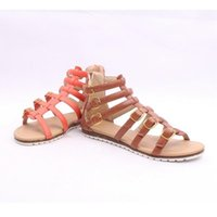 Cheap The Nice tide Rome ladies sandals Korean leather buckle hollowed out side after the zipper for sexy shoes