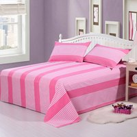 Wholesale Hot Sales Duvet Cover Bedding Sheet Striped Coverlets Bedspread Household Bed Sheet Bedding Supplies Home Textile Adults Bedsheet JA0162