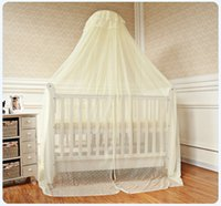 baby cots cheap - Cheap Price Baby Bed Accessoris Baby Crib Canopy Mosquito Net for Toddler Crib Cot Canopy White Yellow Foldable Bed Netting Mesh