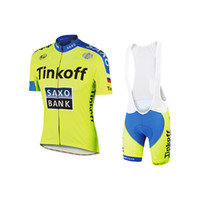 bicycle wear women - Cycling Jersey Set Tinkoff Saxo Team Tour De France Bike Bicycle Clothing Ropa Ciclismo Peter Sagan Cycling Wear Padded Bib Short