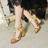 Wholesale brand name women lady shining gold black formal party sandal summer shoes drop shipping