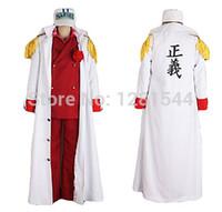 admiral movie - One Piece Foxy ref Admiral Akainu Marine Uniform Cosplay Costume