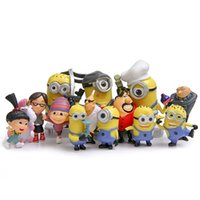 Wholesale 14Pcs Set DESPICABLE ME The Minions Action Figures PVC Minifigure Toys