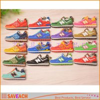 promotion fan - 17Colors New Balanceer Keychain Key Chain Sneaker Shoes PVC Keychains Kids Key Rings Women Key Holder Fan Souvenirs