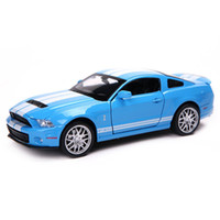Wholesale Fordmustang GT500 Diecast Metal Vehicles Scale Pull Back Simulation Alloy Cars with Sound and Light Boys Oyuncak Araba