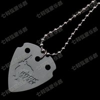 Wholesale Thickness mm perimeter cm Acoustic Electric Guitar Picks Aluminium musical instrument parts Pendant Necklace