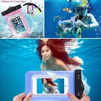 Wholesale Waterproof Underwater Transparent Pouch Bag Dry Case Universal For Mobile Phones iphone Samsung