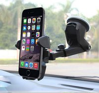 Wholesale long neck degree adjustable universal car mount holder cell phone holder car hoder GPS holder with strong suction cup