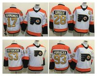 Wholesale Men s Philadelphia Flyers Claude Giroux White rd Premier Player Jersey Simmonds Gostisbeh th Anniversary Hockey Uniforms