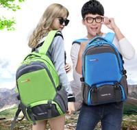 big green bag - Backpack Sport Outdoor Packs Travel Canvas backpacks Shoulder Big capacity Lovers Boys girls men Students bags Water proof Korean L