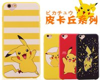 apple back packs - New Poke Pikachu TPU Cell Phone Cases For IPhone s S Plus Cartoon Pocket Monsers Back Cover Protective Dust Plug Opp Pack