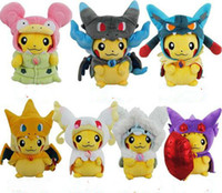 Wholesale newest Poke Mega XY Pikachu Charizard Magikarp Brinquedo Plush Toys Stuffed Doll With Tag CM