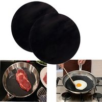 bbq frying pan - 2Pcs Pack Pan Mat Non stick Round Pan Fry Liner Sheet BBQ Oven Kitchen Tool cm