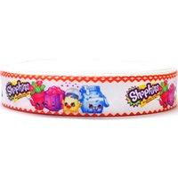 Wholesale 7 inch Grosgrain Ribbon Ruban Hair Headband Accessory Yards Cartoon Organza Polyester Pattern Webbing Fitas Para Artesanato mm Cintas
