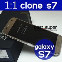 Wholesale Free DHL best S7 in stock HOT Original S7 real G S7 inch Original logo Quad core Android Cell phone g Smart phone S7 edge