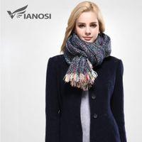 cotton shawls and scarves - 2016 Fashion Colored Stripes Winter Scarf Women Tassel Shawls and Scarves Brand Warm foulard Soft Scarf Woman
