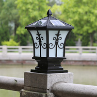 Wholesale solar post lights outdoor post lighting landscaping solar led garden lamp post lamps warm white cold white color light sensor functions