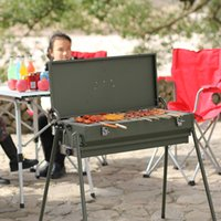 Wholesale Multifunctional portable outdoor barbecue pits Charcoal barbecue pits Outdoor multi purpose furnace