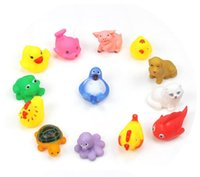 Wholesale Animal Bath Toys Bath Baby Swiming Gifts Rubber Bathing Washing Sets Children Education Toys Children s Swimming Gear HHA1054