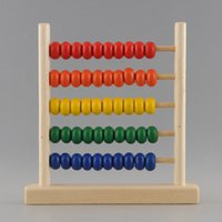 abacus teaching - New Durable Colorful Row Bead Wooden Abacus Child Educationnal Calculate Math Learning Teaching Tool Toy