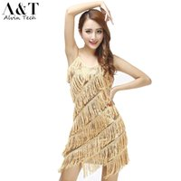 Wholesale Women s Sexy Vintage Tiered Tassel Fringe Sequin Flapper s Party Slip Latin Dress Lady Dance Gatsby Flapper Costume Dresses