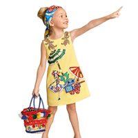 american girl dress patterns free - 2016 New Fashion Princess Dress For Girls Cartoon Pattern Baby Girls Summer Dresses Sleeveless A Line Vest Dress Kids Clothing Free Fedex