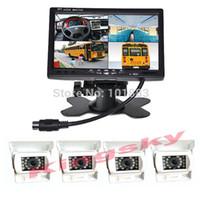 4x 12V 18 LED IR stationnement inverser la caméra de sauvegarde blanc + 7