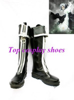 allen walker boots - Freeshipping custom made anime D Gray Man Allen Walker Black Cosplay Boots shoes With Big Zipper Halloween Christmas festival