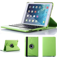 Wholesale 360 Degree Colors Rotating High Quality Plastic Pu Ultra Slim Detachable Keyboard Cover Case For Ipad Mini With Retail Box