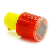 beacon power - Solar Powered Traffic Warning Light LED Solar Safety Signal Beacon emergency Alarm Lamp