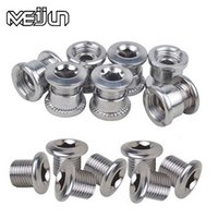 bicycle wheel nuts - MEIJUN MTB Mountain Bikes Road Bicycles Chain Wheel Crankset Monolock Double Screws Bolts Nut Parts