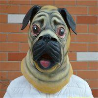 adult bulldogs - Halloween Mask Masquerade for Adult Fashion Bulldog Shar pei Mask Latex Full Head Animal Masquerade Party Cosplay Costume