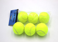 Wholesale Training standard tennis ball rubber good bounce meters durable tennis playing official ball neon yellow sport ball no logo