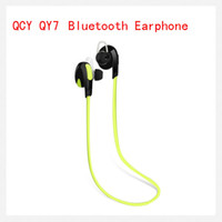 Wholesale QCY QY7 In Ear Bluetooth Stereo Headset Wireless Earphone Handsfree sport headphone With Mic For LG iPhone Samsung