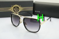 Wholesale DITA Sunglasses Vogue Brand Designer Square Gold Frame Brown Gradient Lens Dita Mach One Sunglasses Women Men Oculos De Sol