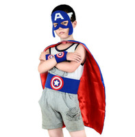 Wholesale Popular Costume Accessories Cosplay Show children clothing cartoon clothing batman superman captain America spiderman iron man cloak