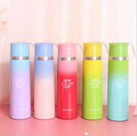 Wholesale 2016 New Color ML Stainless Steel Vacuum Cup Insulation gradient Color Water Bottle My Bottle For Winter FIVE COLOR For your Choice